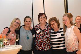 Foto v.l.: Ines Gast - Jugendsozialwerk Nordhausen e.V.; Anna Sorge-Farner – IJAB; Heike Lorenz, Eva Felka, Katja Rothmeier - be